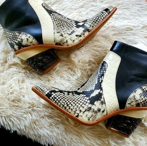 Gianni Bini Eviee Snakeskin Western Ankle Boots